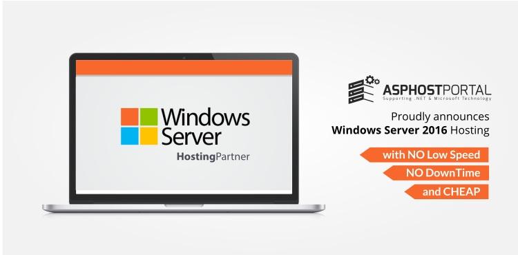 ASPHostPortal.com Announces Windows Server 2016 Hosting Solution